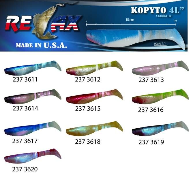 RELAX kopyto RK4-10cm - přívlačová nástraha 3620