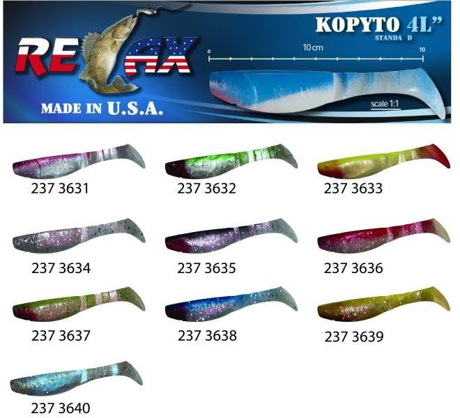 RELAX kopyto RK4-10cm - přívlačová nástraha 3631