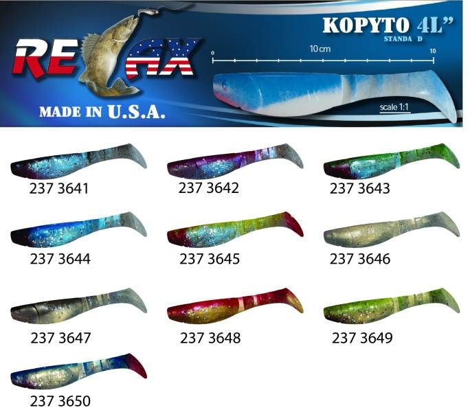 RELAX kopyto RK4-10cm - přívlačová nástraha 3643