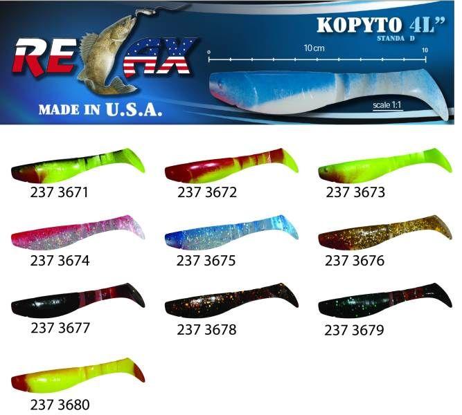 RELAX kopyto RK4-10cm - přívlačová nástraha 3675 červený ocásek