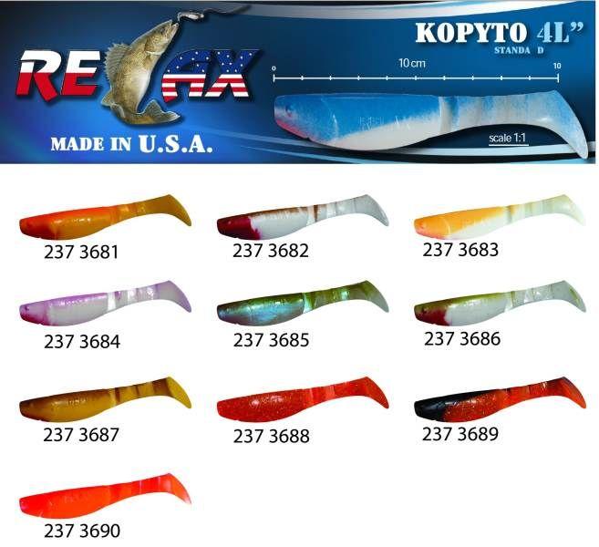 RELAX kopyto RK4-10cm - přívlačová nástraha 3681