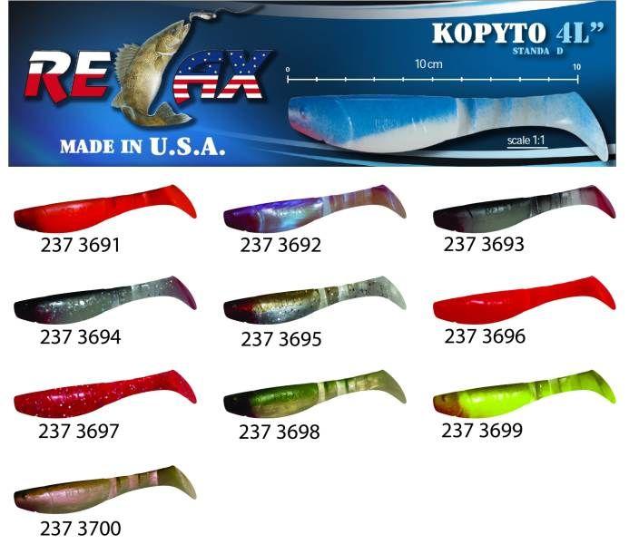 RELAX kopyto RK4-10cm - přívlačová nástraha 3691