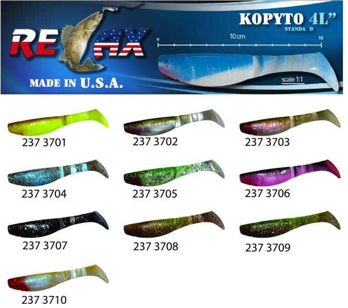 RELAX kopyto RK4-10cm - přívlačová nástraha 3701