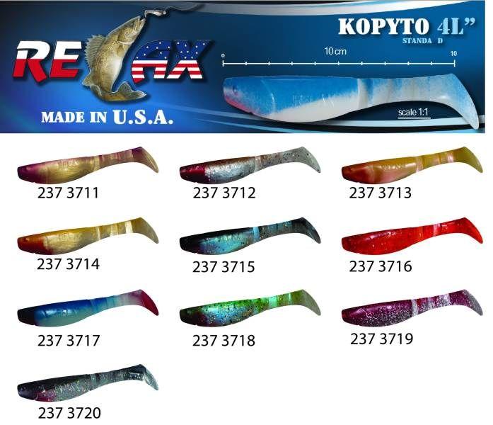 RELAX kopyto RK4-10cm - přívlačová nástraha 3715
