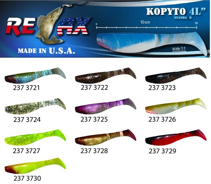 RELAX kopyto RK4-10cm - přívlačová nástraha 3727