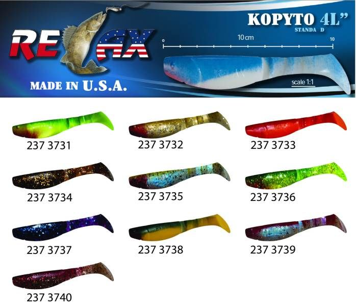 RELAX kopyto RK4-10cm - přívlačová nástraha 3731