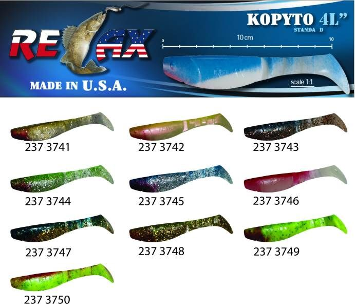 RELAX kopyto RK4-10cm - přívlačová nástraha 3741