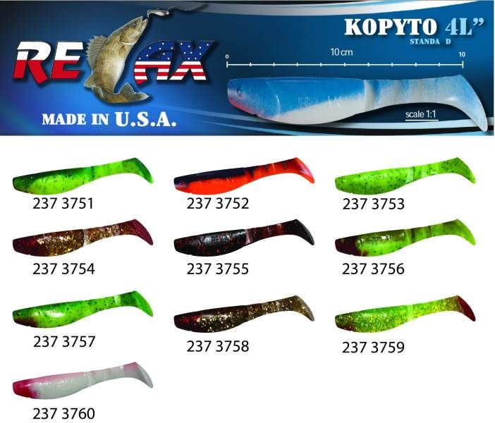 RELAX kopyto RK4-10cm - přívlačová nástraha 3752