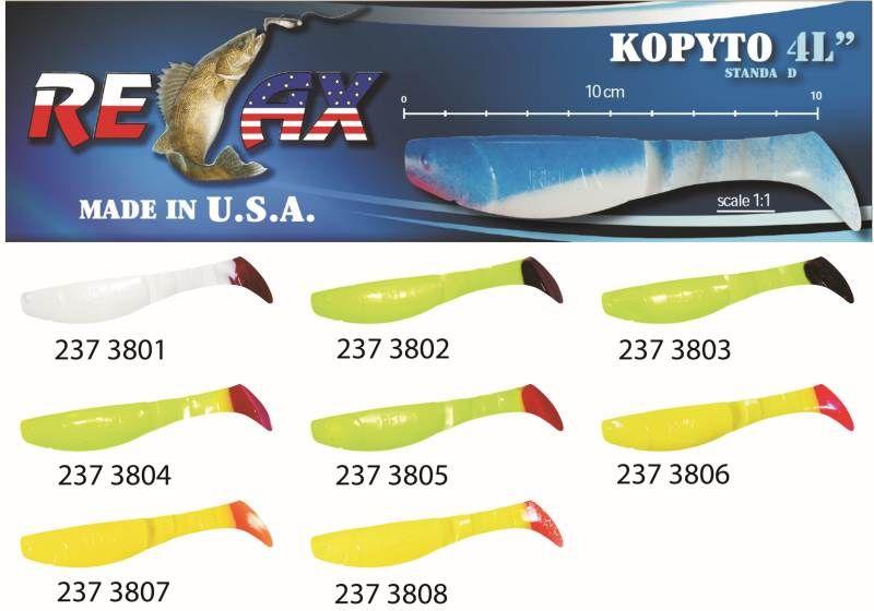 RELAX kopyto RK4-10cm - přívlačová nástraha 3801