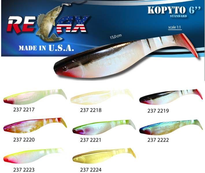 RELAX kopyto RK6 (15cm) cena 1ks/bal5ks 2227 červený ocásek
