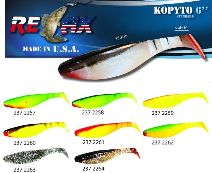 RELAX kopyto RK6 (15cm) cena 1ks/bal5ks 2258 červený ocásek
