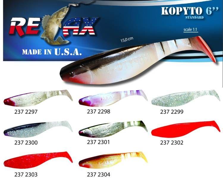 RELAX kopyto RK6 (15cm) cena 1ks/bal5ks 2304 červený ocásek