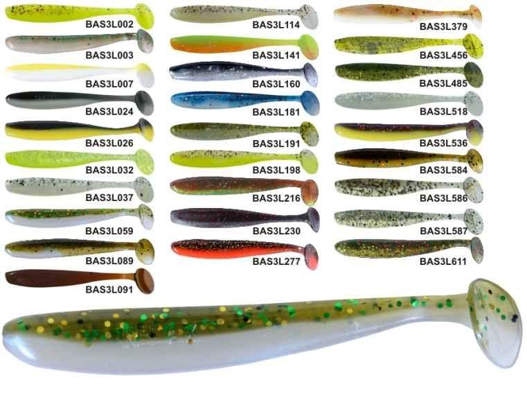 RELAX BASS 3 -7,5cm - nástraha - 1bal/10ks barva 160