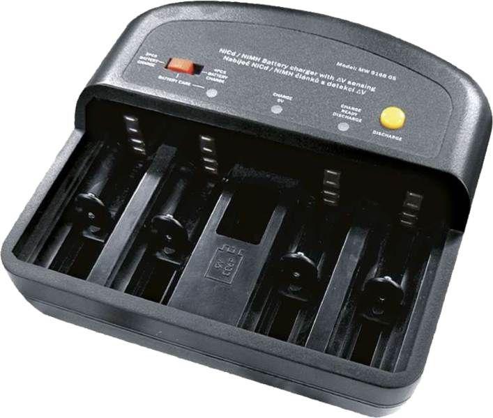 Stolní nabíječka baterií AAA, AA, C, D, 9V