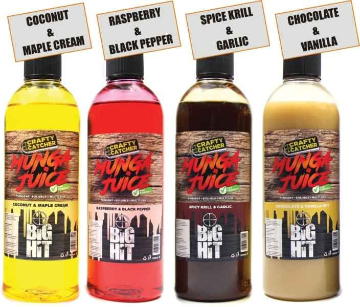 Tekutý posilovač Crafty Catcher Munga Juice 500ml Spicy Krill & Garlic