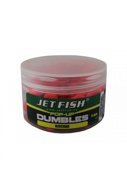 Fluoro pop-up dumbles 11mm : broskev Jet Fish