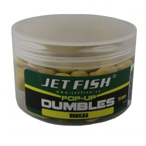 Fluoro pop-up dumbles 11mm : vanilka Jet Fish