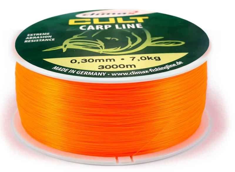 CLIMAX silon CULT Carp Line 600m Fluo-Orange 0,28mm