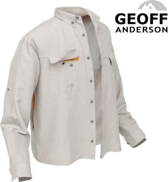 Košile Polybrush 2 Geoff Anderson dlouhý rukáv - písková S