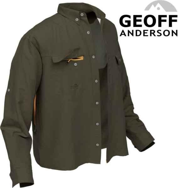 Košile Polybrush 2 Geoff Anderson dlouhý rukáv - zelená XXL