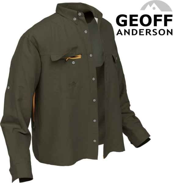 Košile Polybrush 2 Geoff Anderson dlouhý rukáv - zelená XXXL