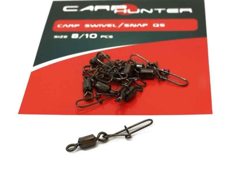 Obratlík s karabinkou Carp Hunter 10ks
