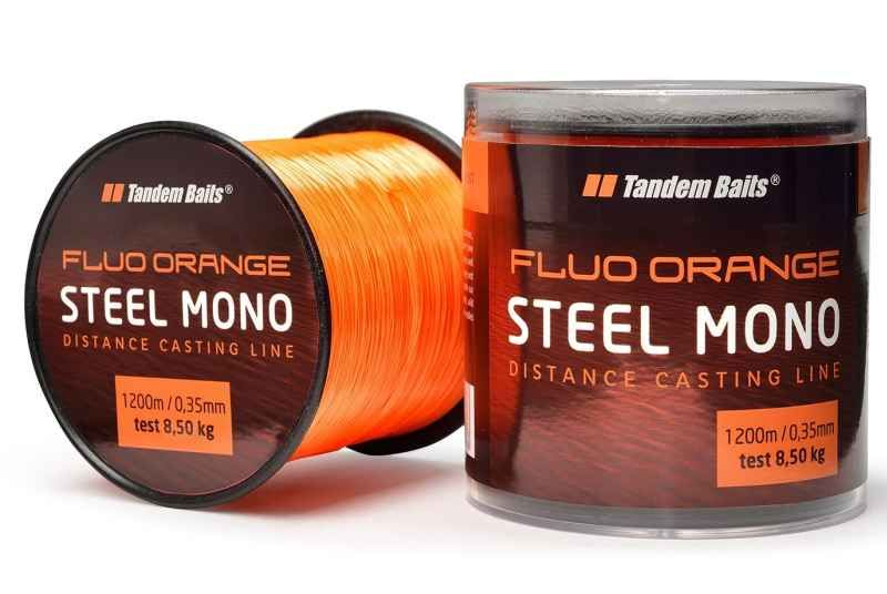 Silon Steel Mono Fluo orange Tandem Baits 1200m 0,35mm