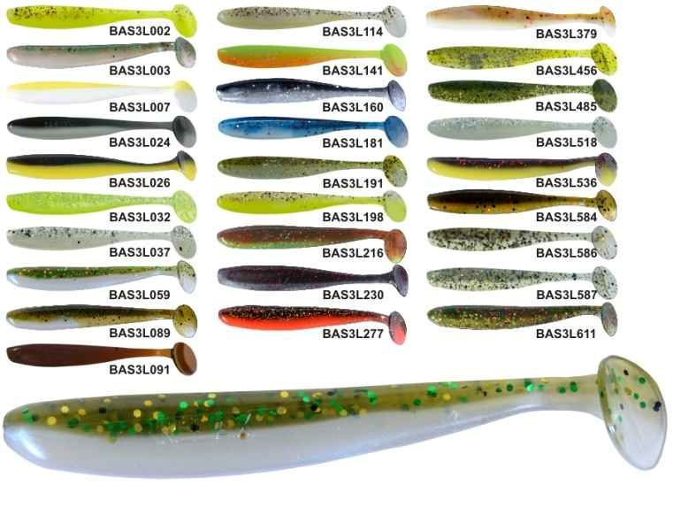 RELAX BASS 3 -7,5cm - nástraha - 1bal/10ks barva 052