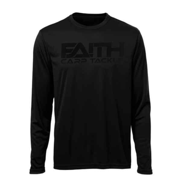 Tričko FAITH dlouhý rukáv - černé XL
