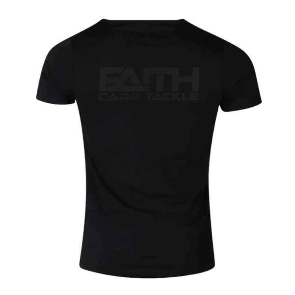 Tričko FAITH krátký rukáv - černé L
