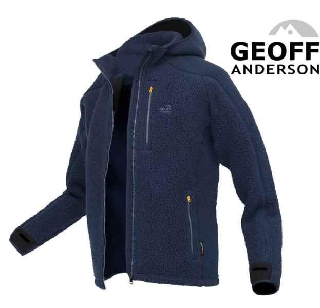 Bunda s kapucí TEDDY Geoff Anderson - Modrý vel.M