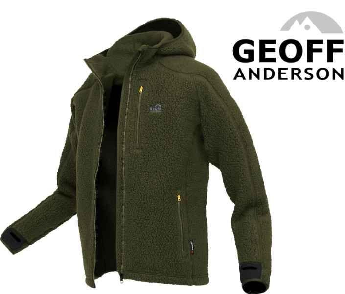 Bunda s kapucí TEDDY Geoff Anderson - Zelený vek.XXXL