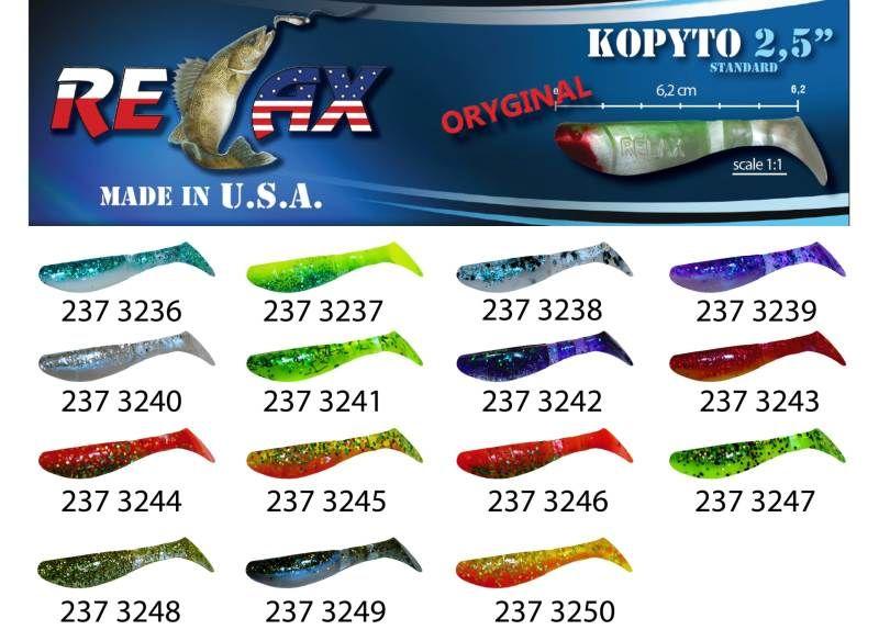 RELAX kopyto RK 2,5 (6,2cm) cena 1ks/bal10ks 3243