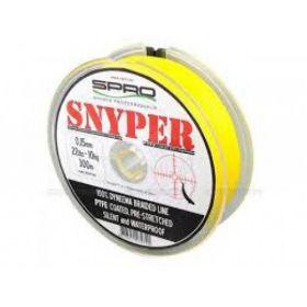 Pletená šňůra Spro Snyper žlutá 0,10mm 7kg