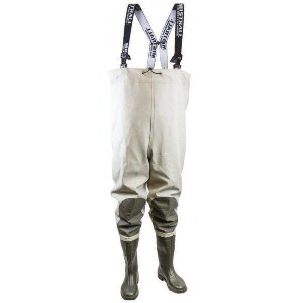 Mistrall brodící kalhoty Velikost 44, khaki-šedá