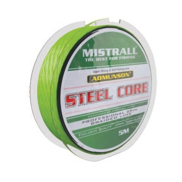 Mistrall pletená šňůra s ocelovým jádrem Admuson Steel Core průměr: 0,16 mm