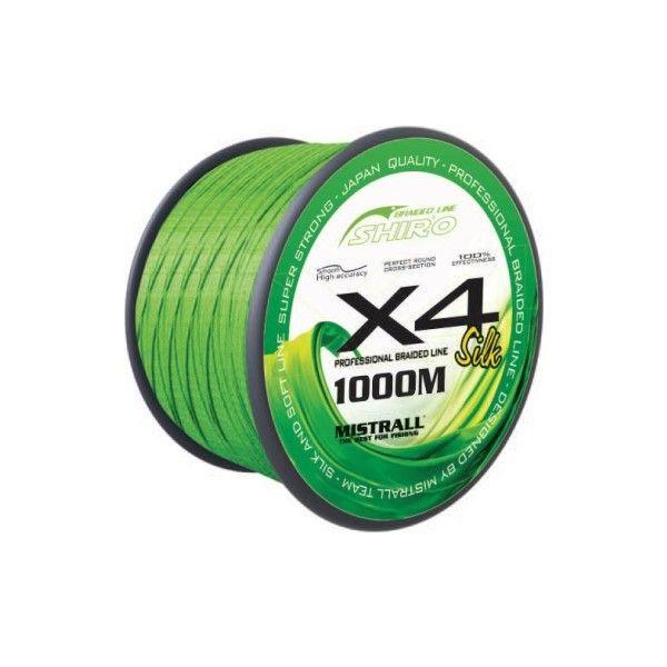 Mistrall šňůra Shiro Braided Line X4 1000m, průměr: 0,19 mm