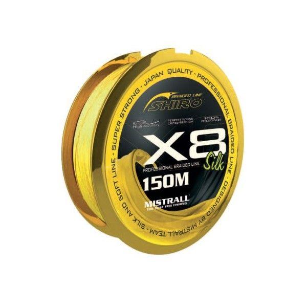 Mistrall šňůra Shiro Silk Braided Line X8 – Fluo 150m průměr: 0,28 mm
