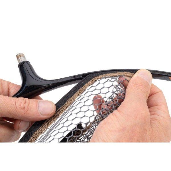 Podběráková hlava se síťkami MS Range Quick Change Zip Head 40 cm Možnost 10x15 pogum. síť Saenger