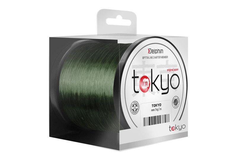 Monofil Delphin TOKYO zelený 0,369mm 22lbs 3700m