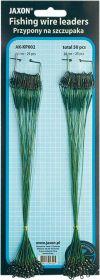Ocelové lanko na dravce Jaxon 8kg 15cm